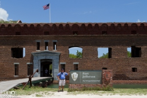 Posing at the entrance to Fort Jefferson on Garden Key in Dry Tortugas