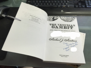 The Venusian Gambit by Michael J Martinez, complete with autograph