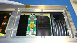 Fox-1A CubeSat satellite installed in P-POD
