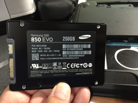 EVO850 250gb SSD for Dell 3531 laptop