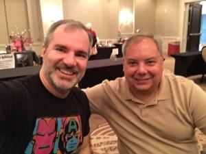 Myself and Peter V. Brett (black shirt)